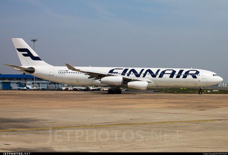 Airbus A340-313X OH-LQG 174 Delhi Indira Gandhi Int'l Airport - VIDP