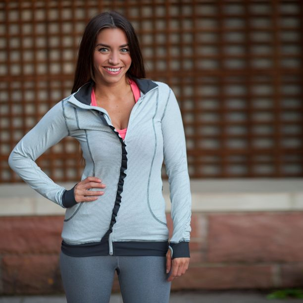 The Sweet Stripe Full Zip, Charcoal / Grey: Sweet Stripes, Workout Clothing, Albionfit, Workout Gears, Grey Sweaters, Workout Outfits, Stripes Full, Albion Fit, Cute Jackets