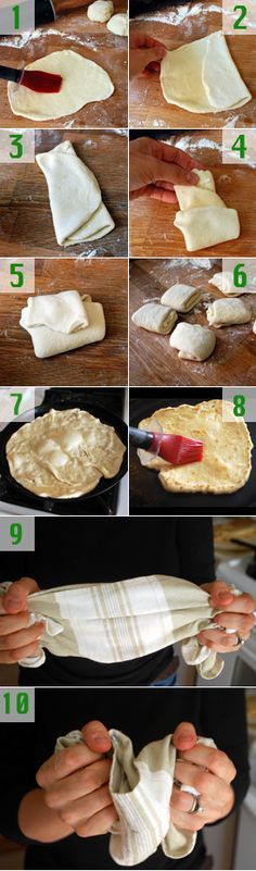 Roti. My mom makes it this way except she spreads softened butter with a knife instead of brushing melted butter.
