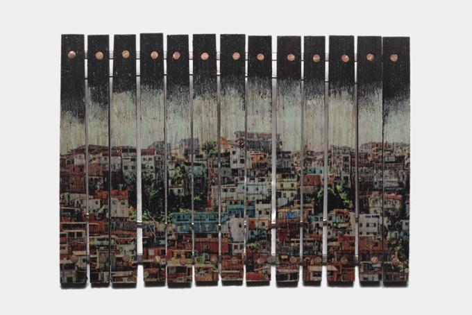 """Brooch """"Favela I"""". By Iacov Azubel."""