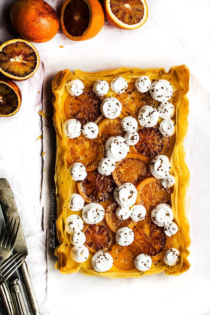 Tarta filo de lemon curd y naranja sanguina - Bake-Street.com