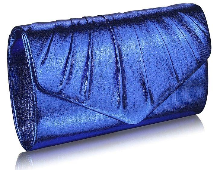 LS Bags metalické psaníčko Prom, modré