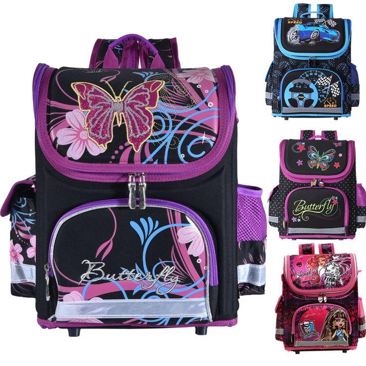 Niños de la escuela Mochila monster high mariposa winx EVA PLEGADO ortopédicos Niños Mochilas escolares para niños y Niñas mochila infantil