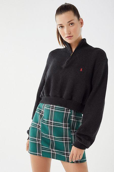 81ae794c3 Urban Renewal Remade Zip-Up Polo Sweater   ♡ r e t r o ...