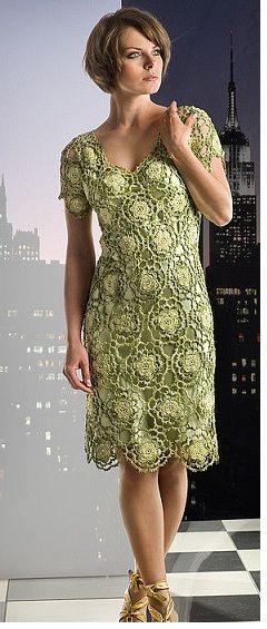 Brasil Tricô & Crochê - Orders made by hand - Encomendas feitas a mão.: Vestido Luana