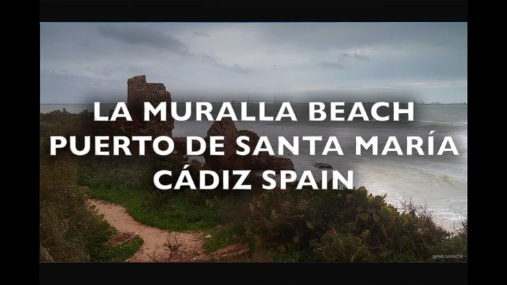 La Muralla Beach Puerto Sherry Cadiz Spain HD Royalty Free Footage