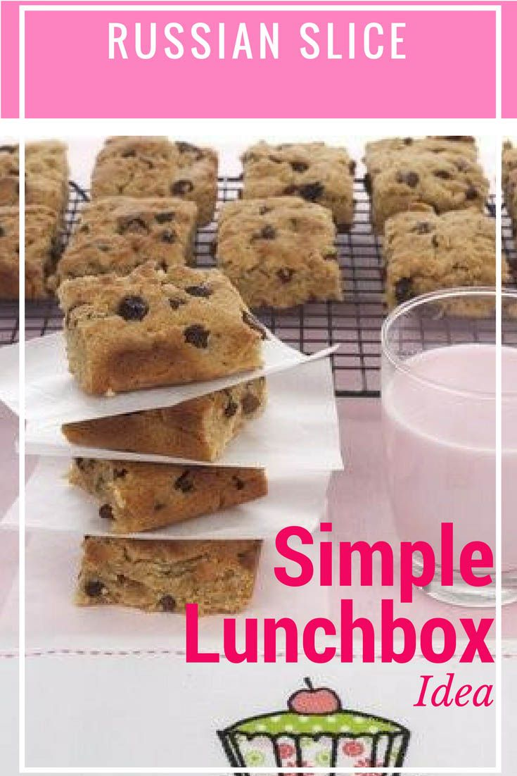 Russian Slice - A Back to School Lunch Box Idea Kids Love! A deliciously sweet, golden syrup slice which is dotted with plump sultanas. The slice is super quick to make and perfect for back to school lunch boxes.#Thermomix #backtoschool #lunchbox via @thermokitchen