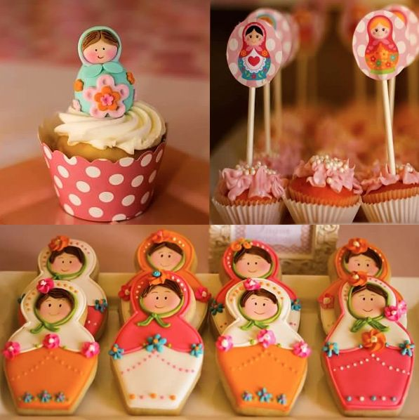 Matryoshka Doll Party Dessert Table Decorations