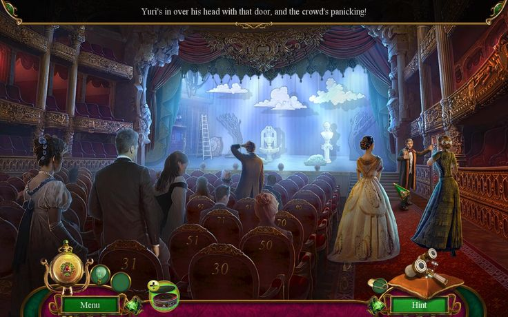 Panic after shooting in the theater. In Danse Macabre: Lethal Letters Collector's Edition game there are heaps of additional excellent Puzzle/Adventure maps.