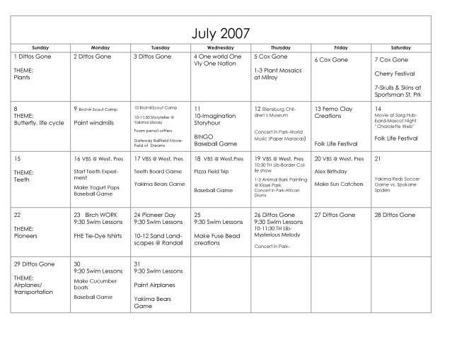 Organizing: Summer Fun Ideas! - Happy Money Saver