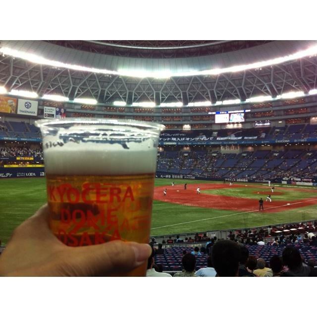 京セラドームで乾杯!