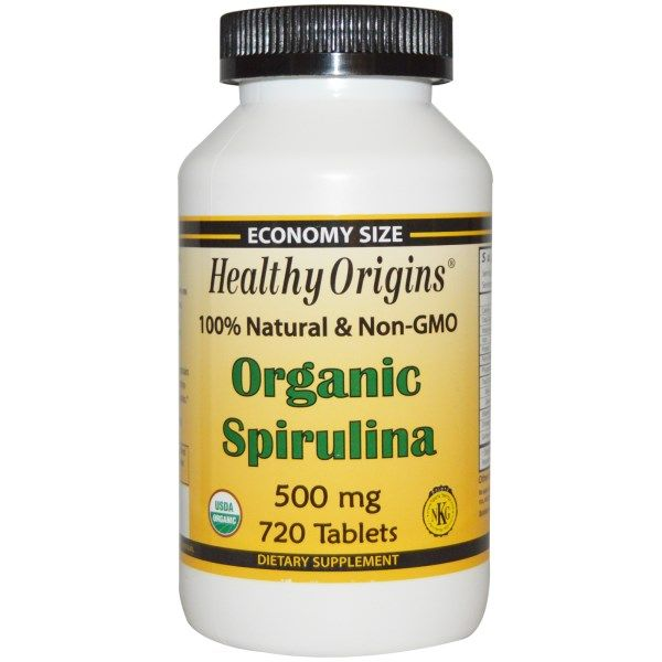 Healthy Origins, Organic Spirulina, 500 mg, 720 Tablets