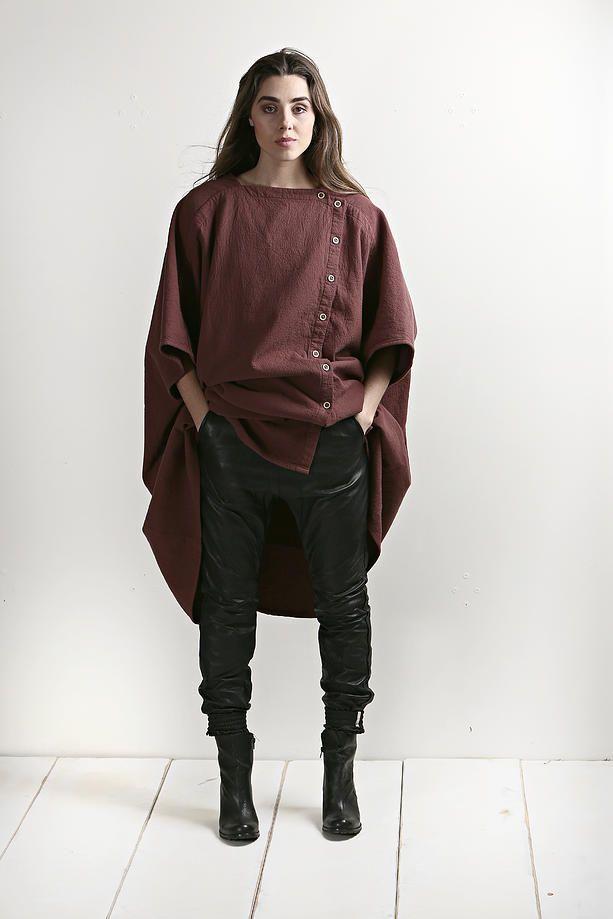 evassunday | woodman cape in merlot