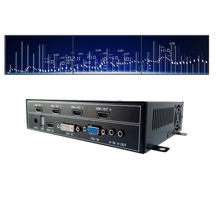 266.00$  Buy now - http://alimlk.worldwells.pw/go.php?t=32778515783 - DIY 1x3 video wall controller for 3 tv video wall display 4hdmi output vga dvi hdmi usb input