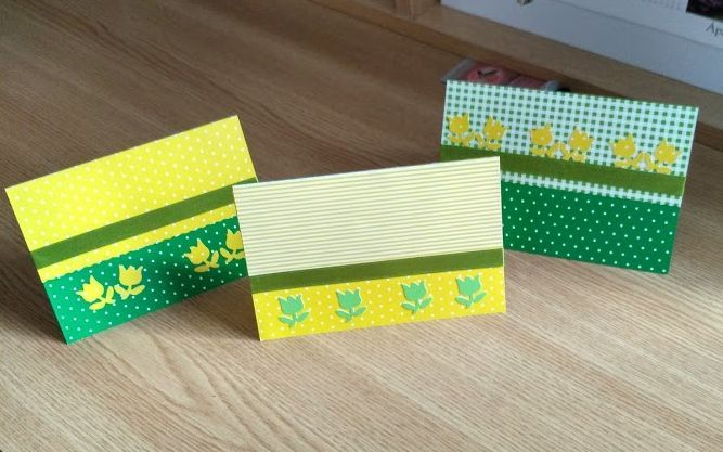 Easter cards in a very simple way.