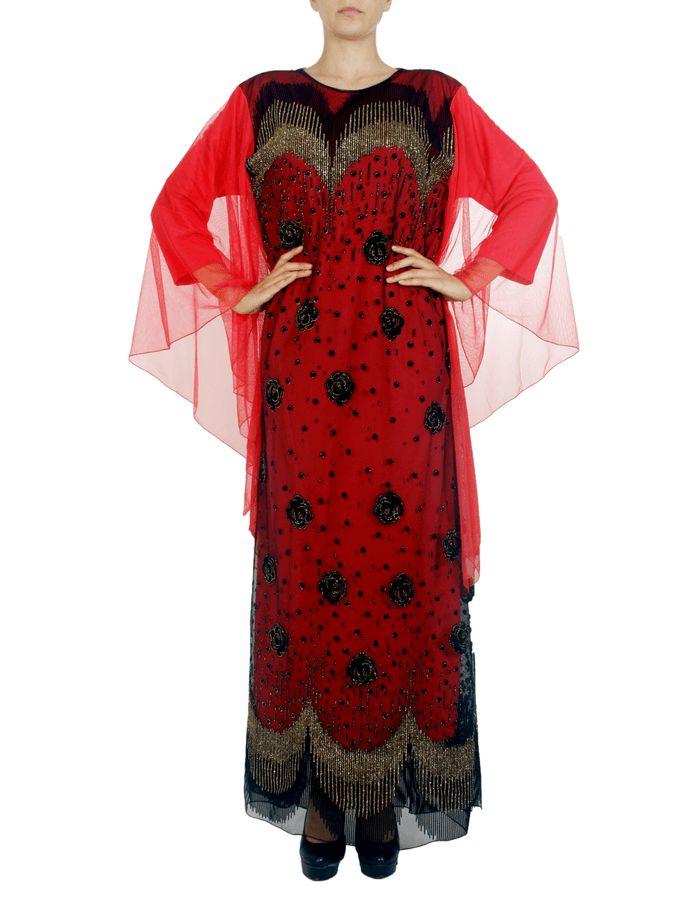 RENK :Kırmızı AKSESUAR :Tül  KALIP : Mankenin Giydiği Beden:38Uzunluk:150 KOL :Uzun Kollu KUMAŞ : Şifon, Jarse Kumaş MEVSIM : 4 Mevsim Feracemizdış giyim ürünü olarak tercih edilmektedir. Şifon detayları ile süslenmiştir. Her mevsimde tercih edilebilir.  MANKENIMIZIN ÖLÇÜLERI : BASEN:91,BEL:61,GÖĞÜS:94,BOY:180,KILO:60  BEDEN VE ÖLÇÜ TABLOSU