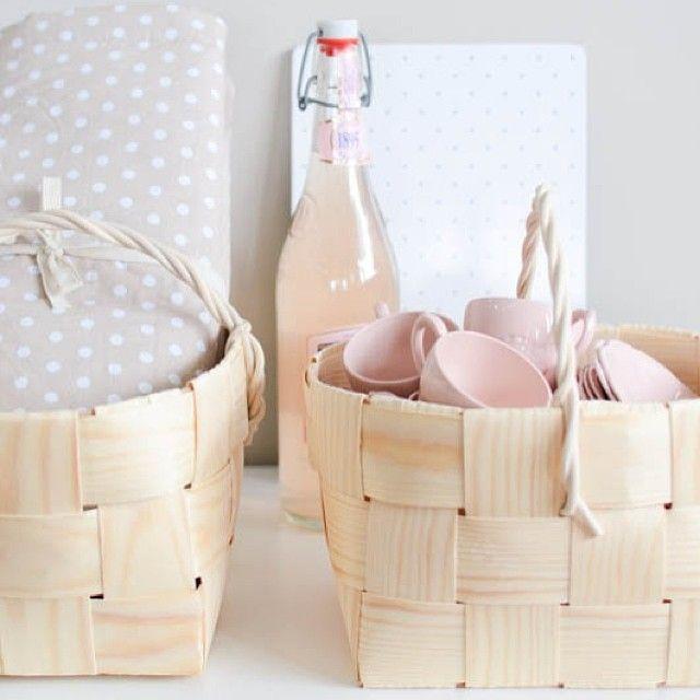 Pink & Polka Dots (woven baskets available at www.pikkukota.com)
