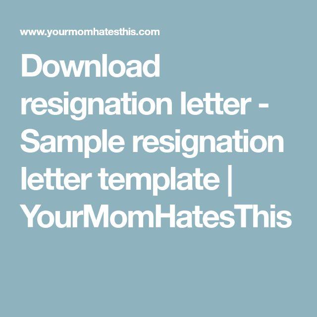 25+ de idei unice despre Resignation sample pe Pinterest - simple resignation letter template