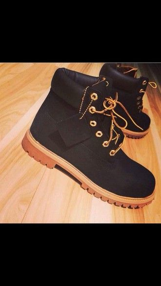 shoes timberlands timberland black boots