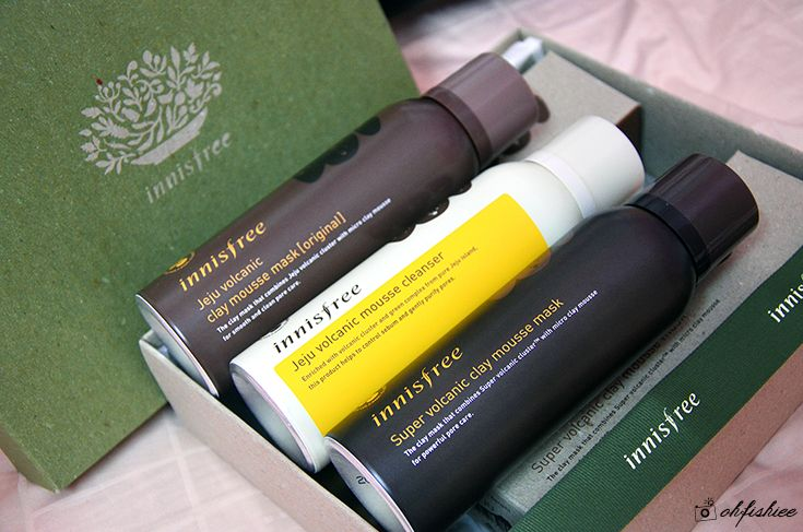 oh{FISH}iee: Review: innisfree NEW Volcanic Clay Mousse Mask & Cleanser