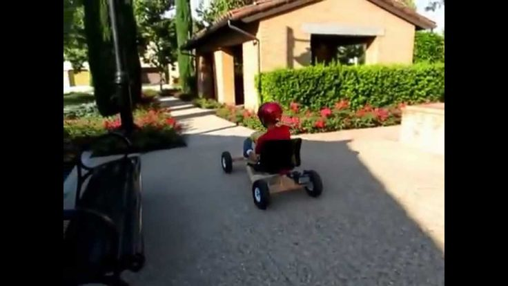 Easy to build go-kart. Perfect project for parent and child. Use only household items and parts from hardware store. Powered by drill motor and use wheels fr...