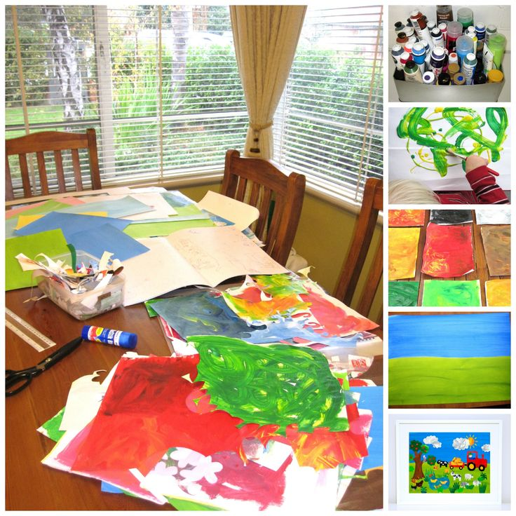 Take a peek inside my office and see how my kid's playgroup paintings are transformed into gorgeous Art Prints for Children.