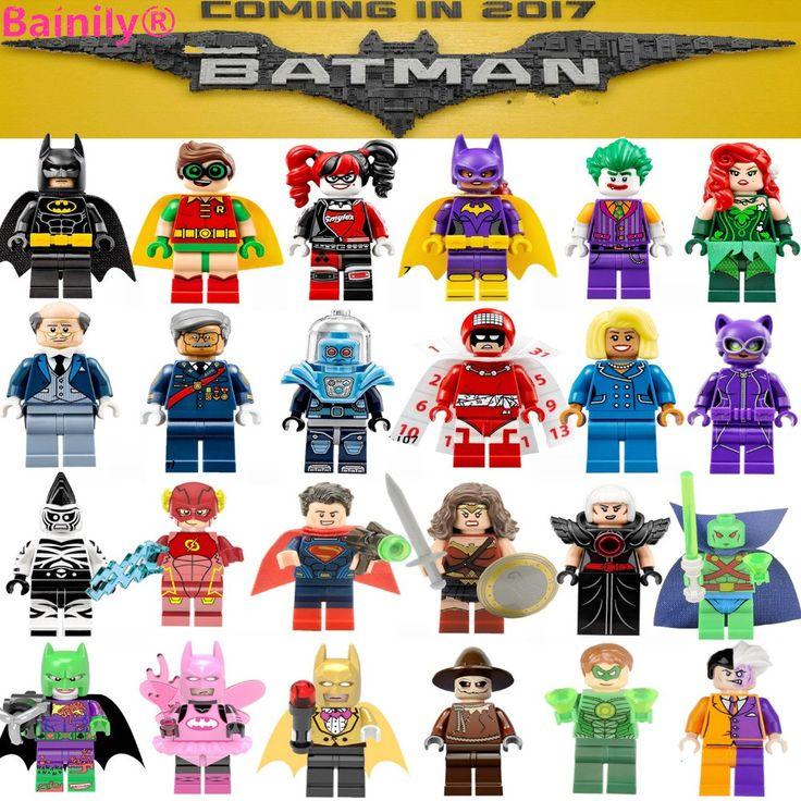 [Bainily] pojedyncze super diy bloki avengers x-man heroes justice league model klocki kompatybilne z legoe batman