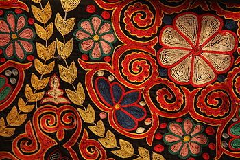 Embroidery: Chain Stitch, Pattern, Art, Textiles, Rugs, Fabric, Stitches