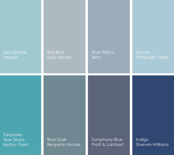 Cool blue paint colors for Blue gray paint palette
