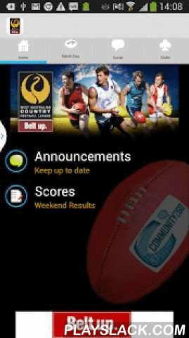 WACFL  Android App - playslack.com , This app is for the community of the Western Australian Country Football League. It allows easy access to often sought information such as ground locations, live and final scores, league calendar and player registration links. Umpires have the ability to upload match stats and information to the league. Clubs can get their own page by contacting CommunityToGo.