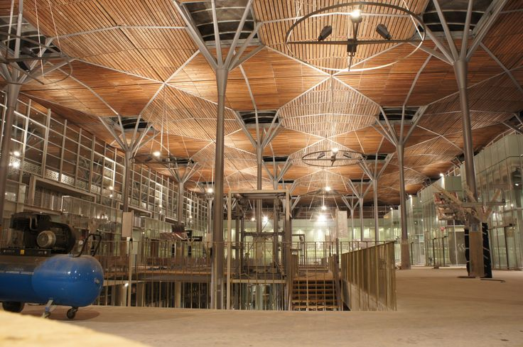 Casablanca new Railway Station under construction - AREP / Groupe3 / MaP3 - Interior night view during construction - 06/2014