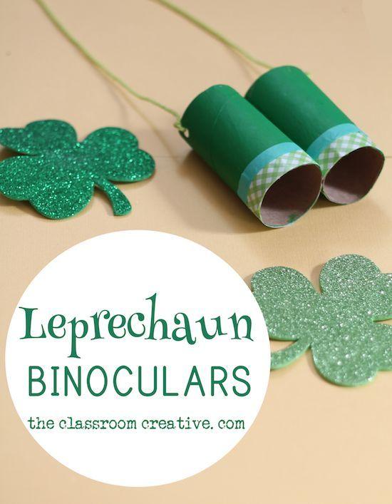 Leprechaun Binoculars Craft St Patrick S Day Craft Idea For Kids