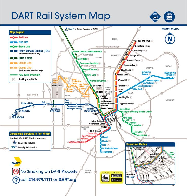 dart - dart rail system map | places to gothings to