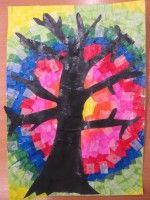 Strom - práce s hedvábným papírem :: M o j e v ý t v a r k a