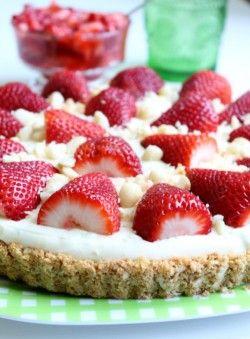 tarte coco-fraises