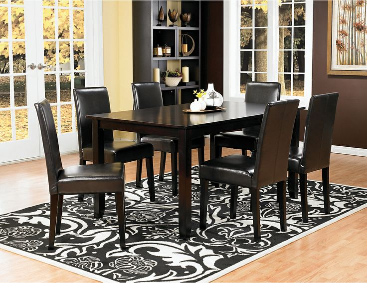 Nicole 7 piece dining package with brown chairs nicolepk7 the brick house stuffs - The brick dining room sets ...