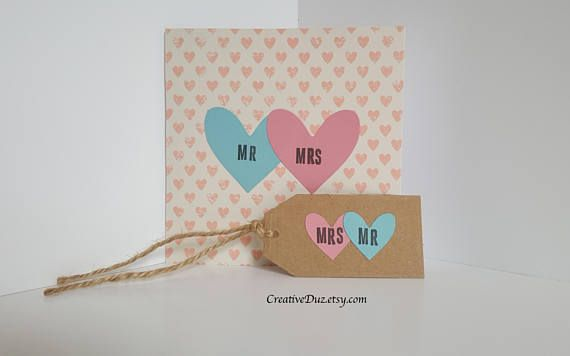 Check out this item in my Etsy shop https://www.etsy.com/uk/listing/525277965/mr-and-mrs-wedding-card-mr-and-mrs
