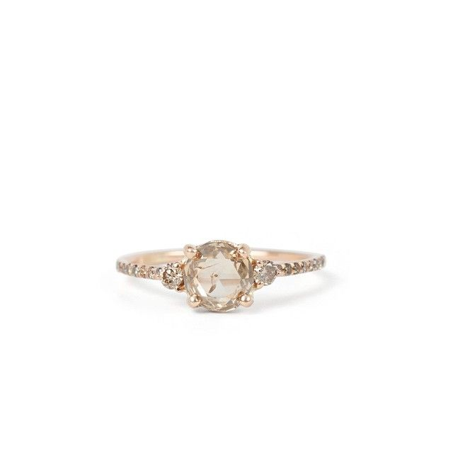 A fizzy champagne beauty. Blanca Monros Gomez's champagne diamond solitaire ring. We're seeing stars.