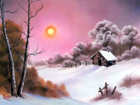 PUZZLE - Pink Sunset In Winter (80 pieces)