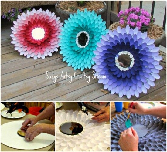 Plastic Spoon Mirror Is A Super Easy Craft   The WHOot