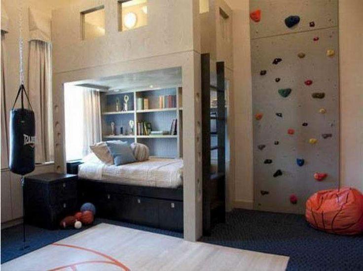 Boys Room With Rock Climbing Wall Sweet