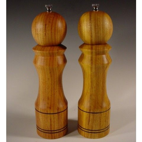 Salt and Pepper Mills made from Canarywood Exotic Wood on framestr.com