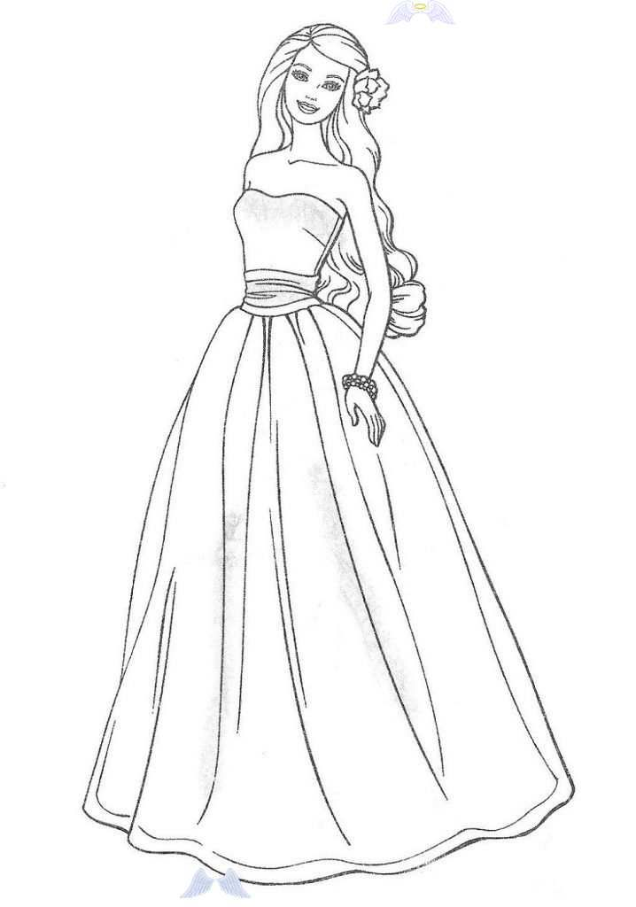 Wedding Dress Coloring Pages For Girls Wedding Dress Coloring Pages For Girls Activity Shelter In 2020 Barbie Coloring Pages Barbie Coloring Coloring Pages For Girls