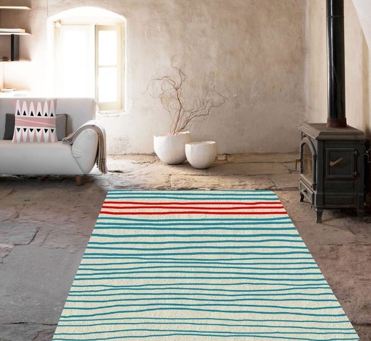 Blue Lines Rugs   Modern Area Rug   Dorm Rugs   Affordable Area Rugs