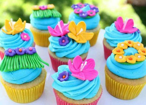 Order Hawaiian cake online | Luau party cupcakes, grass skirt birthday cake pops, Tiki cookies, hula girl macarons