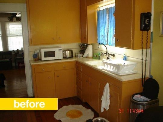 A California Bungalow Kitchen Loses The Orange Beforeandafter