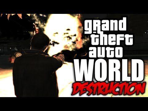 GTA 4: World Destruction! - (Tsunami Mod + Carmageddon Mod COMBINED!) - YouTube