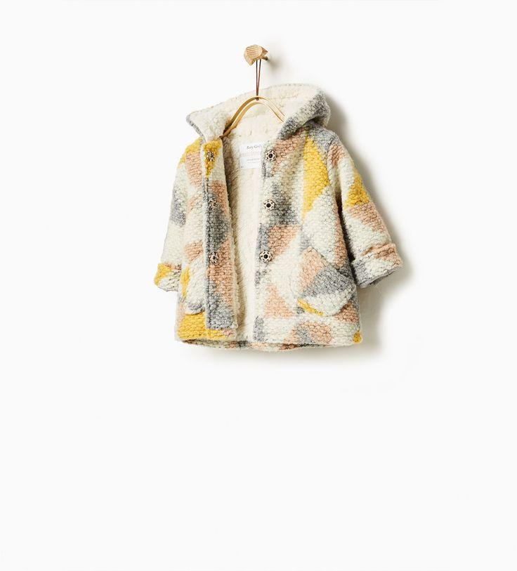Jacquard knit coat-COATS-Baby girl-Baby | 3 months - 3 years-KIDS | ZARA United States