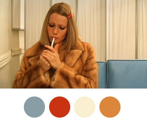 Margot takes a break. | Wes Anderson color palettes -- color scheme for a bright office?