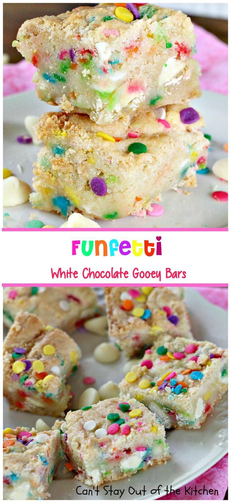 Funfetti White Chocolate Gooey Bars
